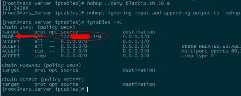 Linux系统防CC攻击自动拉黑IP增强版Shell脚本