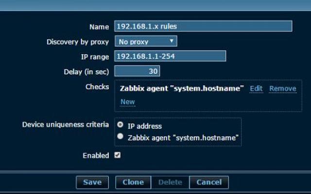zabbix Discovery :网络发现 Discovery配置(80)