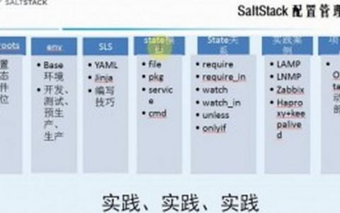 [原创]Saltstack配置管理学习笔记:配置管理概述