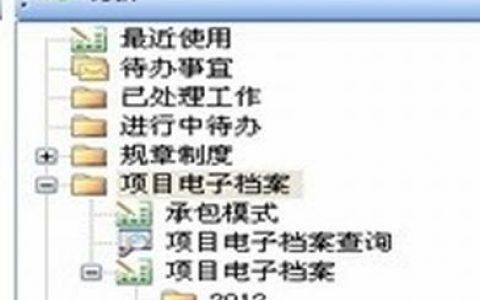 用勤哲EXCEL服务器做项目电子档案管理OA系统