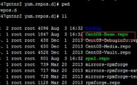 linux redhat centos使用的yum源