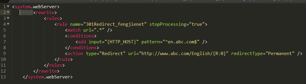 web.config各种跳转规则大全-持续更新