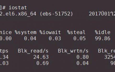 linux下查看磁盘IO占用情况或某个进程占用IO情况