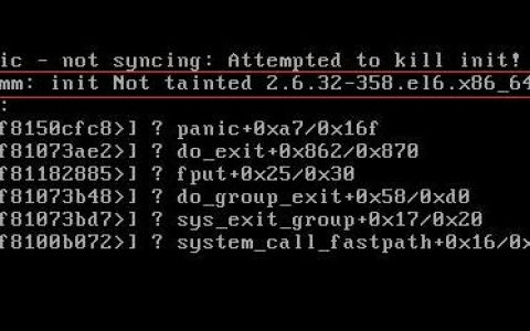 linux启动出现kernel panic -not syncing:attempted to kill init 解决方法