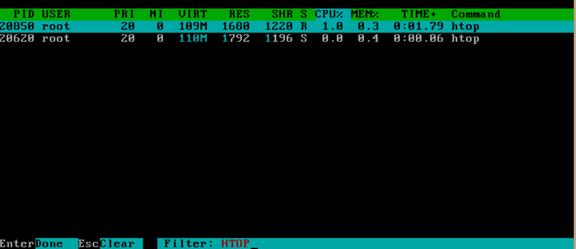 通过htop命令查看内存实际使用容量以及htop命令详解 服务器系统 第16张