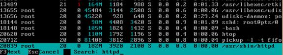 通过htop命令查看内存实际使用容量以及htop命令详解 服务器系统 第15张