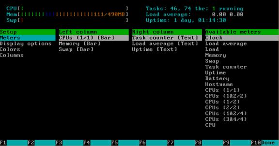 通过htop命令查看内存实际使用容量以及htop命令详解 服务器系统 第10张